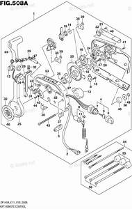 Suzuki Outboard Parts By Model Df 140a Oem Parts Diagram For Opt Remote Control  E40