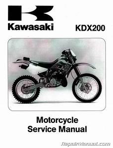 Kawasaki Kdx200    Kdx250 Service Manual Repair 1989-1994 Kdx 200 250