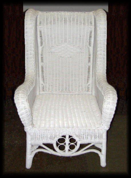 ralph high back wicker wing chair all about wicker