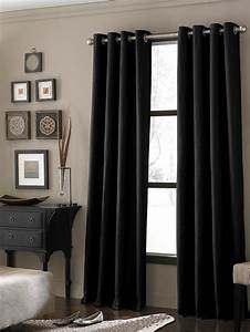 20 different living room window treatments for Black curtains for living room