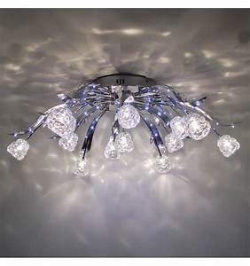 Plafonnier Design Led : plafonnier t l command led design tulipe ~ Melissatoandfro.com Idées de Décoration