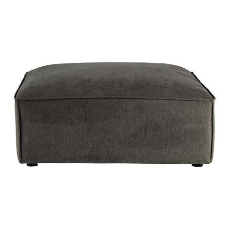 pouf de canapé pouf de canapé modulable en tissu taupe grisé malo