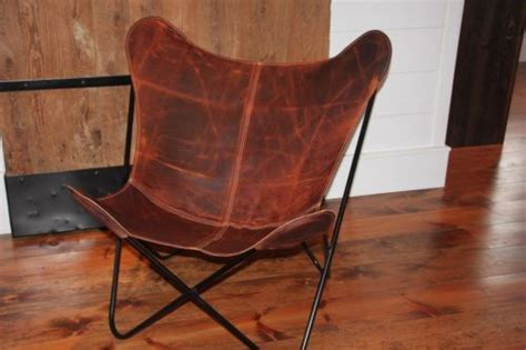 butterfly chair cover vintage brown top grain leather