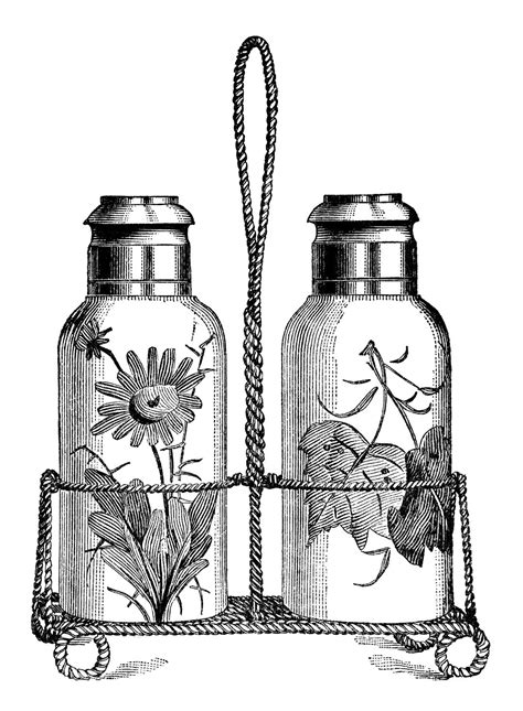 salt and pepper clipart black and white salt and pepper shakers free vintage clip