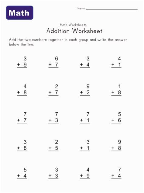 easy addition worksheets kids learning station