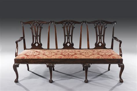Chair Settee by Exceptional 18th Century Carved Rosewood Back Chair