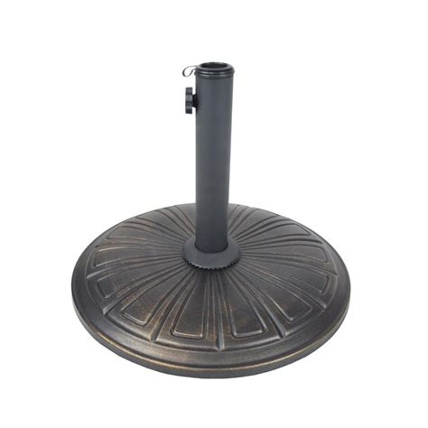 cast concrete patio umbrella base in black hd4232 us28 ab
