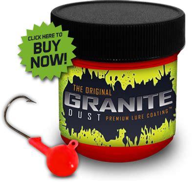granite dust powder coat fishing lure and tackle coating