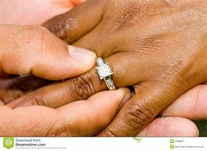 Engagement Ring And Hands Royalty Free Stock Photography ...