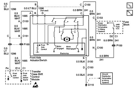 Chevy 4wd Actuator Valve Wiring Diagram by 98 Chevy 4x4 Actuator Wiring Diagram Engine Auto Parts