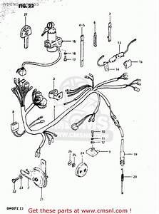 Suzuki Gn400 T 1982  Usa  Wiring Harness
