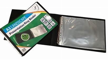 Folder Binder A3 Ring Landscape Presentation Portfolio
