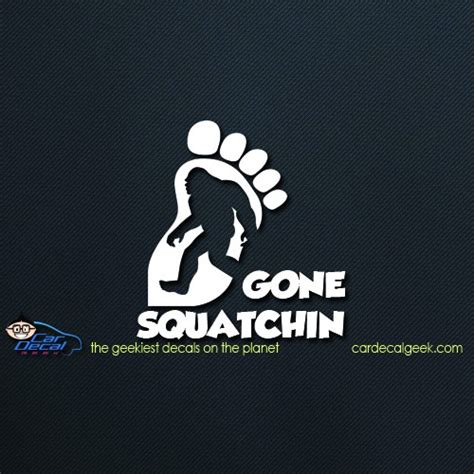 bigfoot decal silhouette gone squatchin foot sticker decals graphics window stickers graphic sasquatch cardecalgeek texas select options