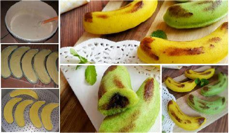 Cetakan Banana Steam Cake resep membuat banana steam cake isi coklat meleleh yang