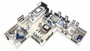 cuisine conception d projet villa duplex plan maison 3d With conception de maison 3d