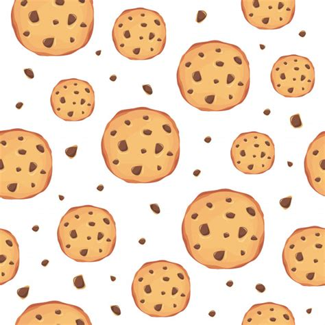Free Cookie Background Images by Cookies Pattern Background Vector Premium