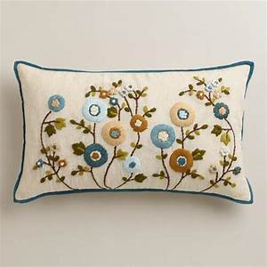 Cool floral lumbar pillow world market for Cool lumbar pillows