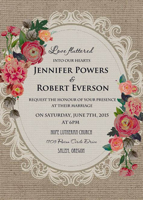 bridal shower invite cheap vintage rustic roses wedding invitations ewi397 as
