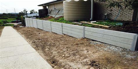 how to make concrete retaining wall brisbane retaining walls concrete stone timber