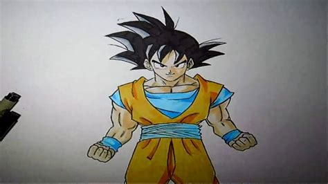 wie zeichnet man son goku dragonball  tutorial youtube