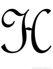 Cursive Letter H Printables
