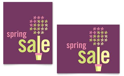 spring plant sale poster template design
