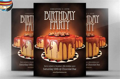amazing birthday party psd flyer templates word