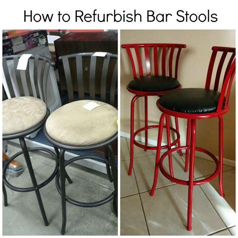 Bar Makeover by Bringing It About Bar Stool Makeover