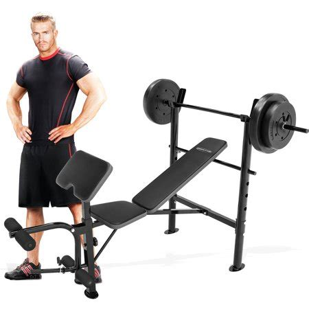 walmart bench press marcy competitor combo bench with 80 lbs weight set cb