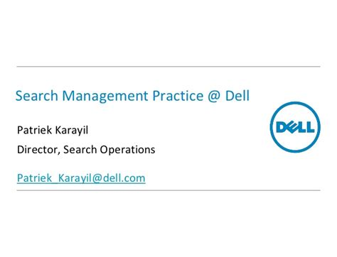 search management practice  dell