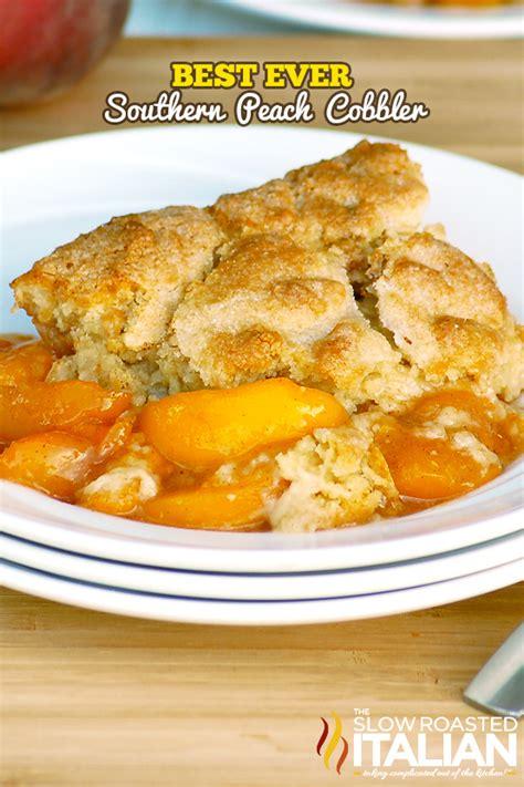 southern peach cobbler favesouthernrecipescom