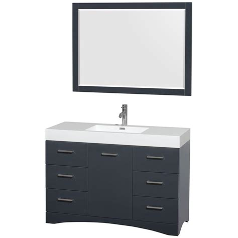 46 Inch Wide Bathroom Vanity by Wyndham Collection Delray 48 In Vanity In Clay With