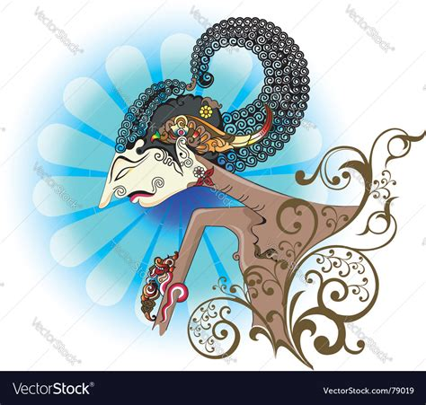 wayang kulit  shadow puppet royalty  vector image