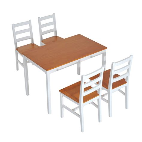 home goods kitchen table homcom 5 piece solid pine wood table and chairs dining set