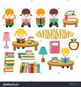 Kids Library Clipart - ClipartXtras