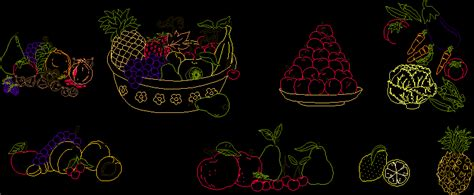 drawings  fruits  vegetables dwg block  autocad