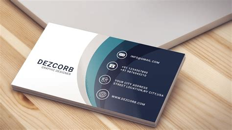 business card design  photoshop cs  blue youtube
