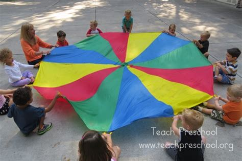 parachute basics the hello teach preschool 272 | Red Day and straws 149