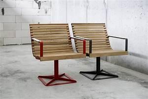 Fauteuil Bois Exterieur : fauteuil pr va ext rieur pour terrasse en m tal acier de couleur et en bois massif seanroyale ~ Melissatoandfro.com Idées de Décoration