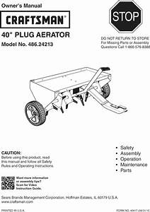 Craftsman 48624213 1602004l User Manual 40 Plug Aerator