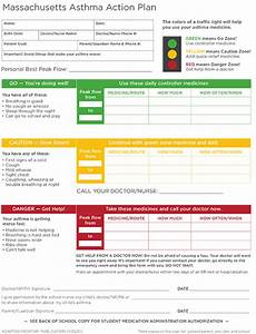 massachusetts health promotion clearinghouse child asthma With asthma management plan template