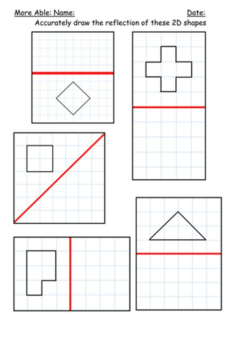 reflection  shapes  kbarker teaching resources tes