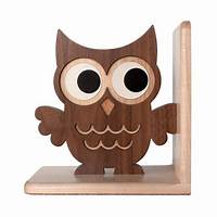 bookends for kids Wooden Owl Bookend: Heirloom Kids Wood Bookend Nursery