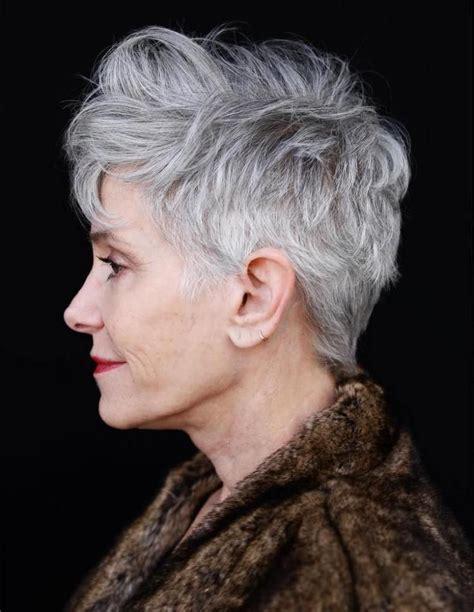 50 Gray Hair Styles Trending in 2020 in 2020 Wavy pixie