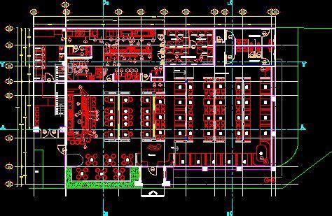 Coffee Bar   Restaurant 2D DWG Plan For AutoCAD ? Designs CAD