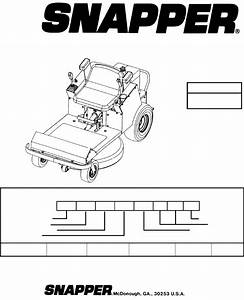 Snapper Lawn Mower Yz145332bve  Yz145382bve User Guide