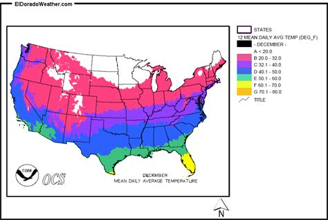 temperature average december mean daily states map united annual climate yearly weather maps eldoradoweather