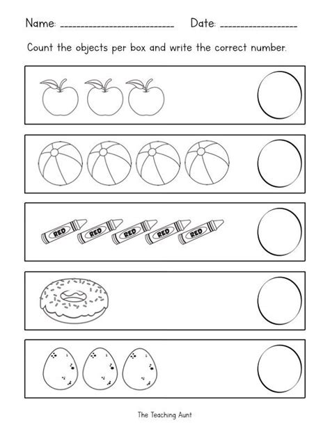 counting objects worksheets  images tracing