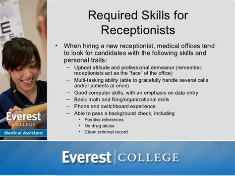 medical assistant job opportunities receptionist