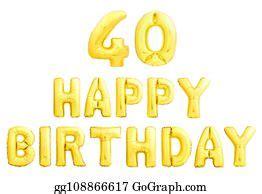 clip art  female birthday sign stock illustration